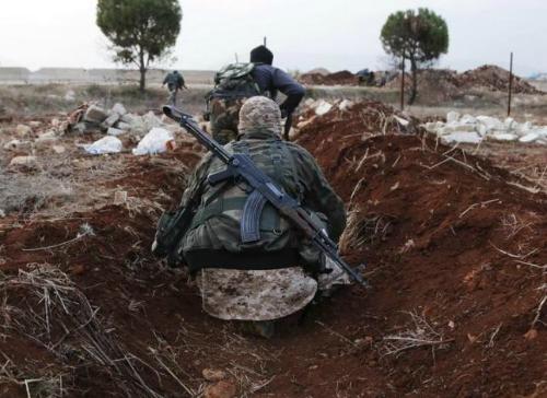 phien quan al-nusra front tai gan aleppo thang 11/2014. anh:reuters