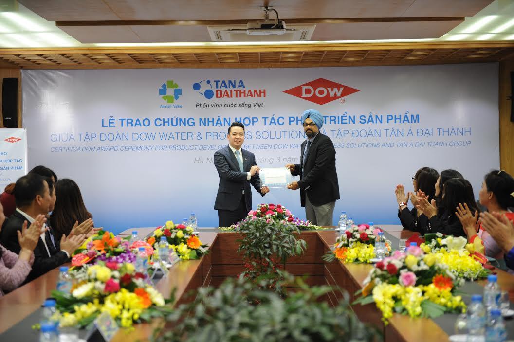 Tập đoàn Tân Á Đại Thành và Dow Water & Process Solutions thoả thuận hợp tác phát triển sản phẩm R.O tại Việt Nam