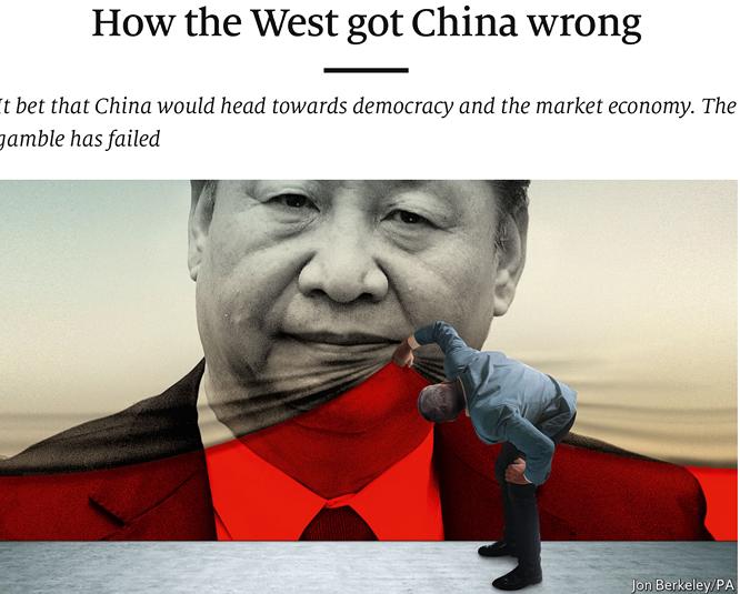 """tieude bai bao tren the economist: """"phuong tayda sai lam ve trung quoc the nao""""."""