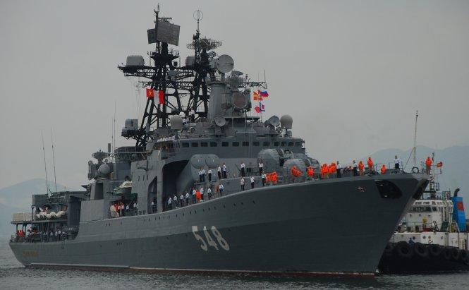 Tàu chống ngầm của Nga đến Đà Nẵng
