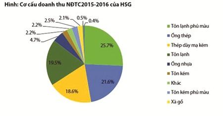 co cau doanh thu cua hsg nien do 2015-2016. (anh: vdsc)