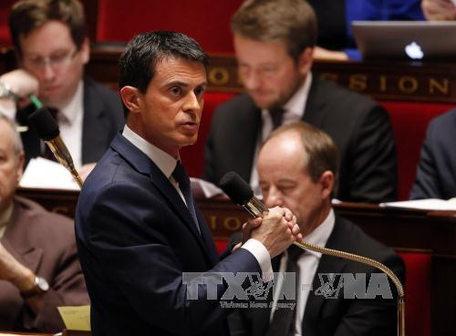 thu tuong phap manuel valls. anh: afp/ttxvn