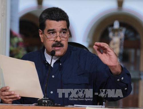 tong thong venezuela nicolas maduro trong cuoc hop o caracas ngay 25/8. anh: epa/ttxvn