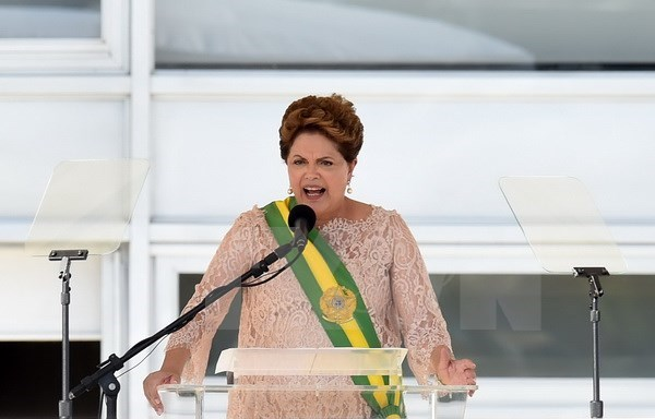 tong thong brazil dilma rousseff. (nguon: afp/ttxvn)