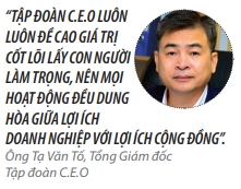 Top 50 2018: Cong ty Co phan Tap doan C.E.O