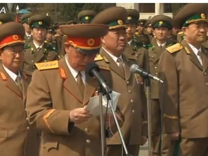 ong ri myong-su (nguoi doc bai phat bieu) luc con lam bo truong an ninh nhan dan - anh: north korea leadership watch