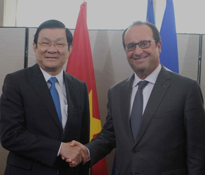 Chủ tịch nước đề nghị Pháp phát huy vai trò tại biển Đông