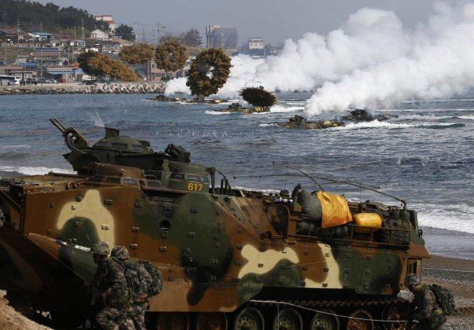 Mỹ - Hàn tập trận giả lập Triều Tiên tấn công toàn diện