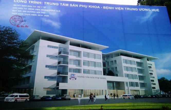 Mô hình Trung tâm Sản phụ khoa Bệnh viện Trung ương Huế - Ảnh: Nguyên Linh