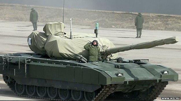 xe tang chien dau the he moi armata t-14 cua nga - anh:www.mil.ru